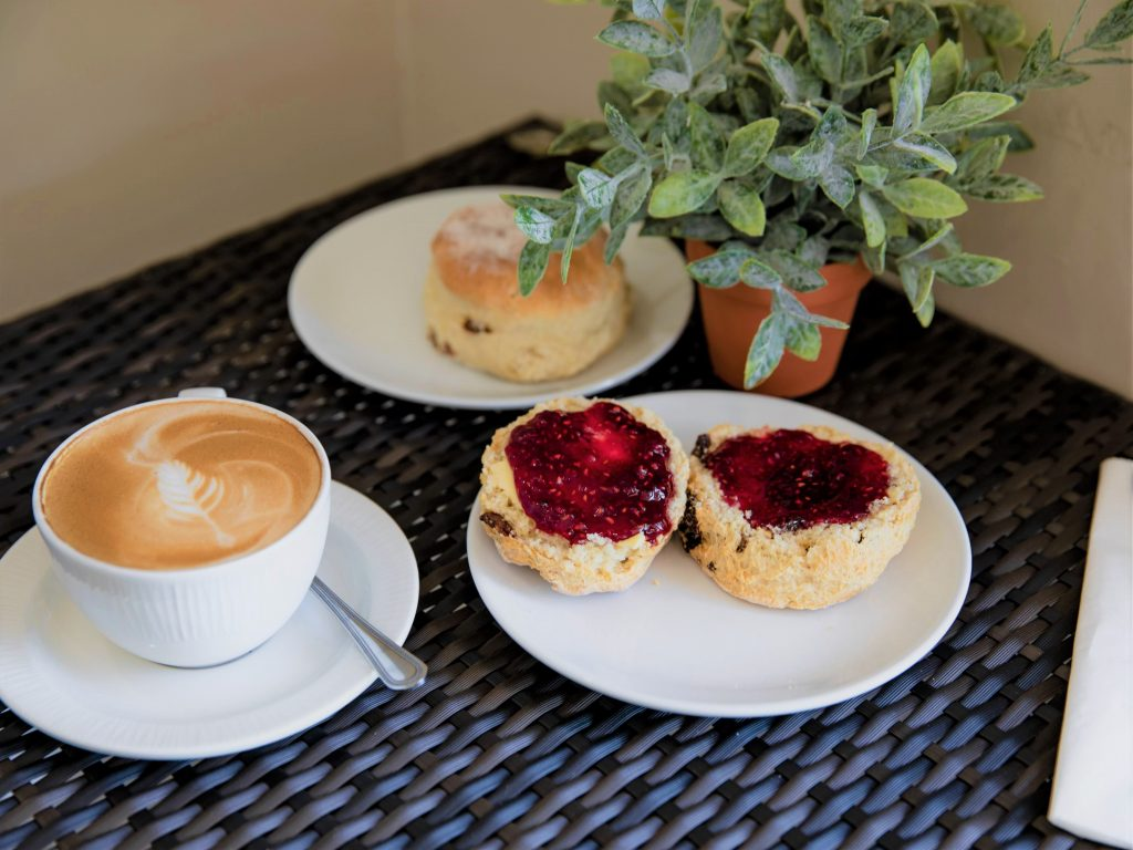 scones with jam all homemade at the coffee shop, Soutra